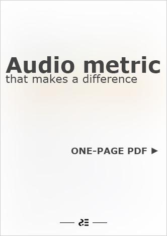 Audio metric that makes a difference